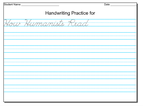 The Idea Backpack: Freebie - Editable Handwriting Paper. Good for ...
